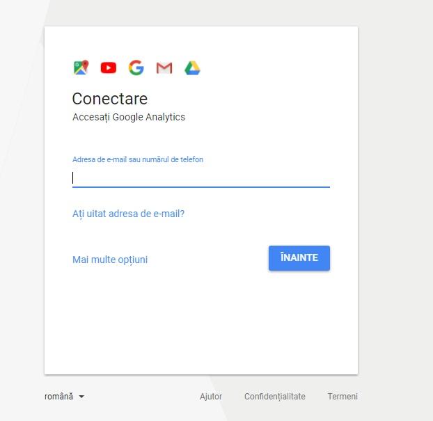 conecteaza-te la google analytics