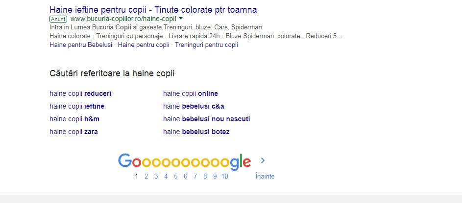 sugestii google